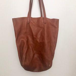 Baggu Brown Leather Tote Bag